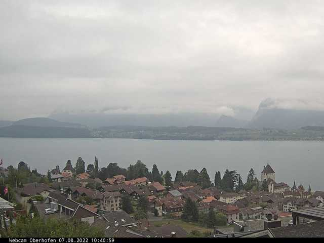 météo Webcam Oberhofen am Thunersee