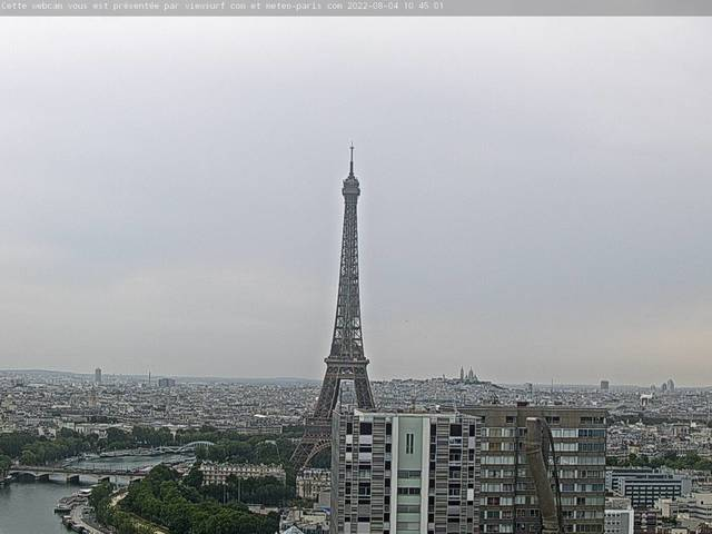 weather Webcam Tour Eiffel